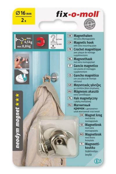 Magnet-Haken Neodym 16 mm fix-o-moll