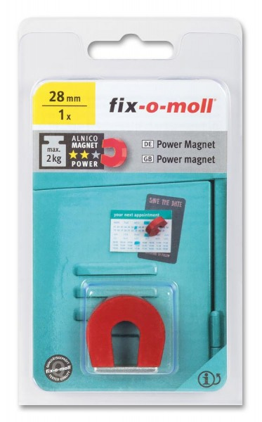 fix-o-moll Alnico Magnet Hufeisen 28mm