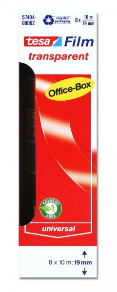 Klebefilm transparent Officebox 10m x 19mm tesa