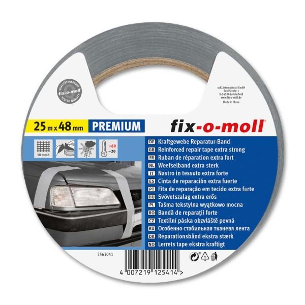 Reparaturband fix-o-moll Premium silber 25m x 48mm