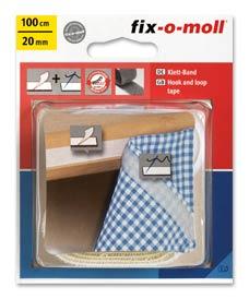SUPER-SALE: Klettband Kombi fix-o-moll weiß