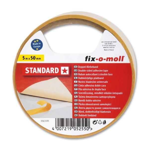 Verlegeband Teppichverlegeband fix-o-moll Standard 5 m x 50 mm