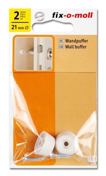 Wandpuffer fix-o-moll rund 21mm weiß