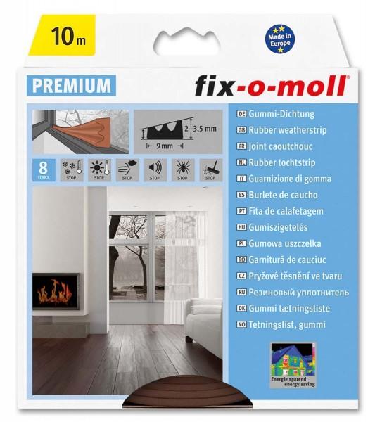 E-Profildichtung Gummidichtung fix-o-moll 10 m braun