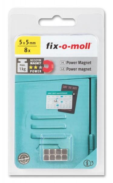fix-o-moll Neodym Magnete Würfel 5mm silber