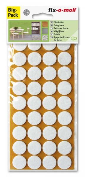 Filzgleiter selbstklebend fix-o-moll rund 22 mm Spar Pack weiß