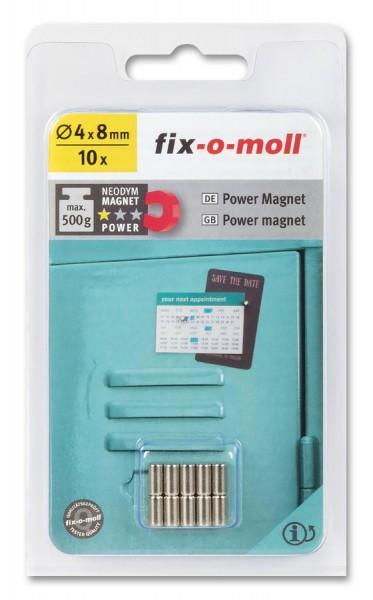 fix-o-moll Neodym Magnete Zylinder 4mm silber