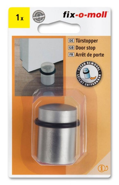 Türstopper fix-o-moll Metall vernickelt satiniert 30-35mm x 44mm