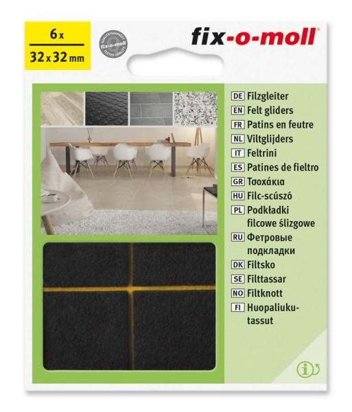 Filzgleiter selbstklebend fix-o-moll 32 x 32 mm braun