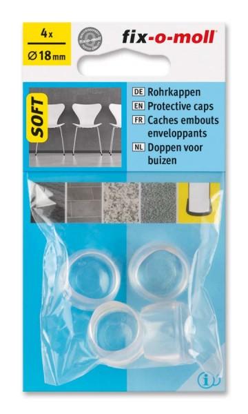 Rohrkappen Soft transparent 18 mm fix-o-moll