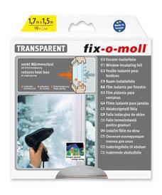 SUPER-SALE: Fenster-Isolierfolie 1,7m x 1,5m fix-o-moll