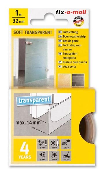 Türdichtung Türbodendichtung soft fix-o-moll selbstklebend transparent
