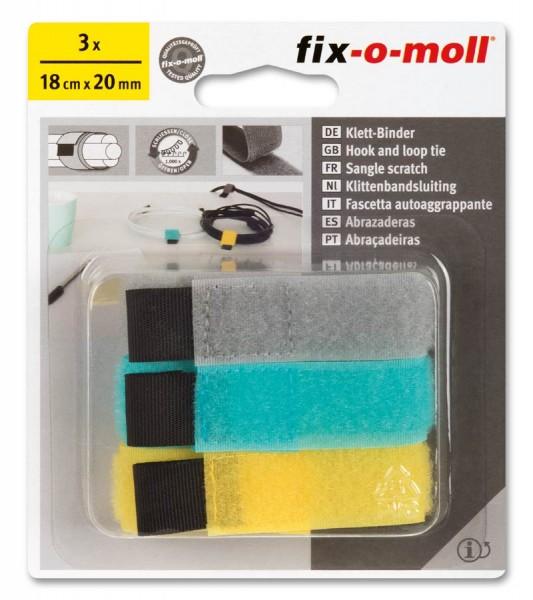 Klettbinder Set fix-o-moll 3 Farben