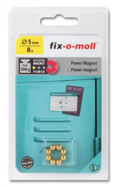 fix-o-moll Neodym Magnete Kugeln 5mm gold