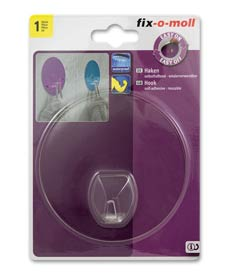 SUPER-SALE: Haken rund 100mm transparent fix-o-moll