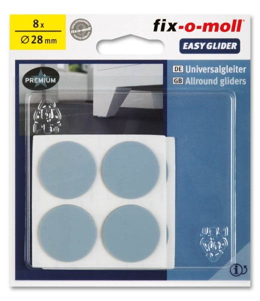 PTFE Universal Gleiter fix-o-moll selbstklebend rund 28 mm