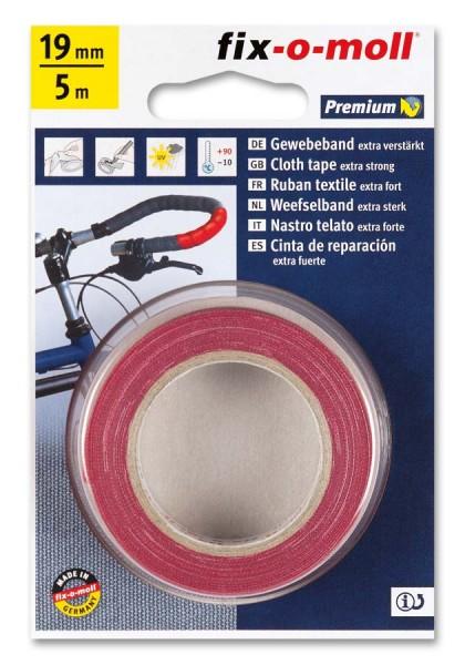Gewebeband fix-o-moll 19mm rot