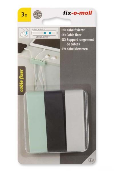 Kabelfixierer fix-o-moll pastellgrün-hellgrau-schwarz