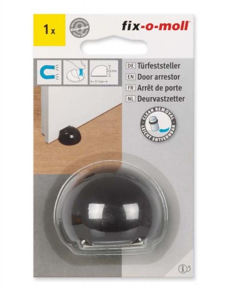 Türfeststeller schwarz Kunststoff magnetisch fix-o-moll