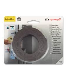 SUPER-SALE: Magnetband selbstklebend 2,5 m x 20 mm fix-o-moll