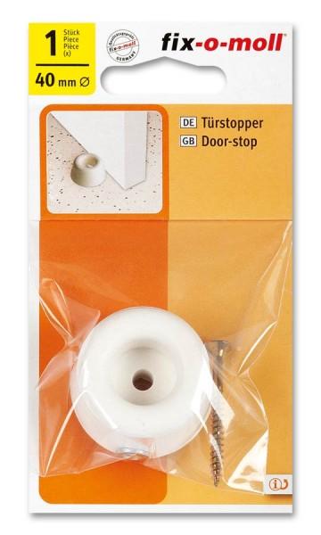 Türstopper fix-o-moll rund 40mm weiß