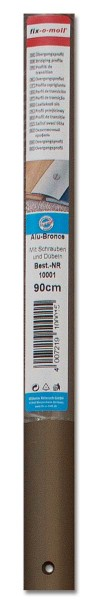 Übergangsprofil Aluminium fix-o-moll 90cm x 30mm alu-bronze