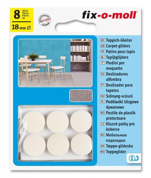 Teppichgleiter Möbelgleiter fix-o-moll rund 18 mm