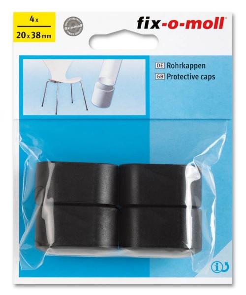 Rohrkappen fix-o-moll oval 20 x 38 mm schwarz