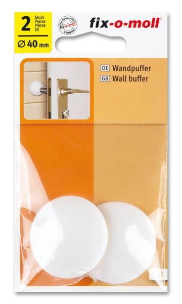 Wandpuffer rund 40mm weiß fix-o-moll