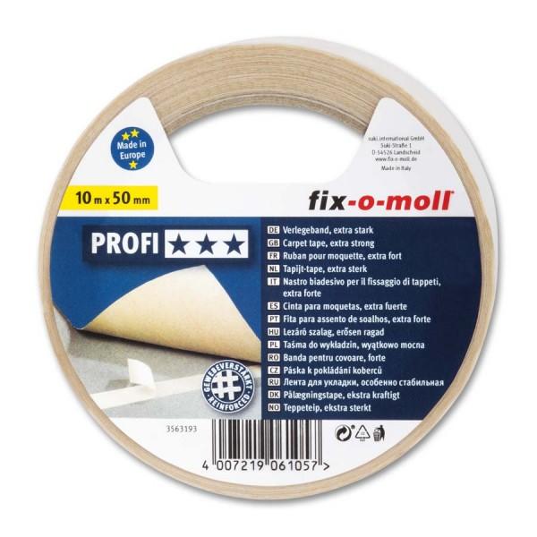 Verlegeband Teppichverlegeband fix-o-moll Profi 10 m x 50 mm