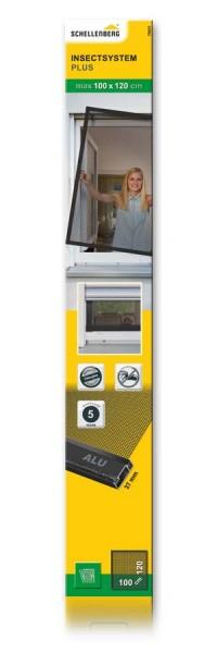 Insektenschutz-Fenster PLUS Schellenberg 100 x 120cm anthrazit