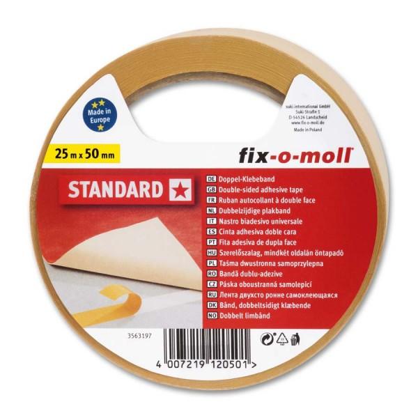 Verlegeband Teppichverlegeband fix-o-moll Standard 25 m x 50 mm