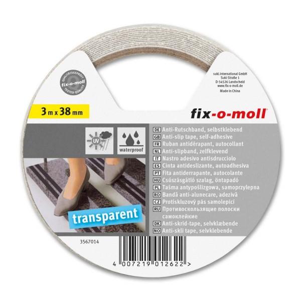 Anti-Rutschband transparent 38mm fix-o-moll