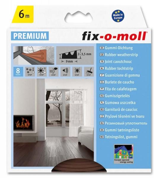 E-Profildichtung Gummidichtung fix-o-moll 6 m braun