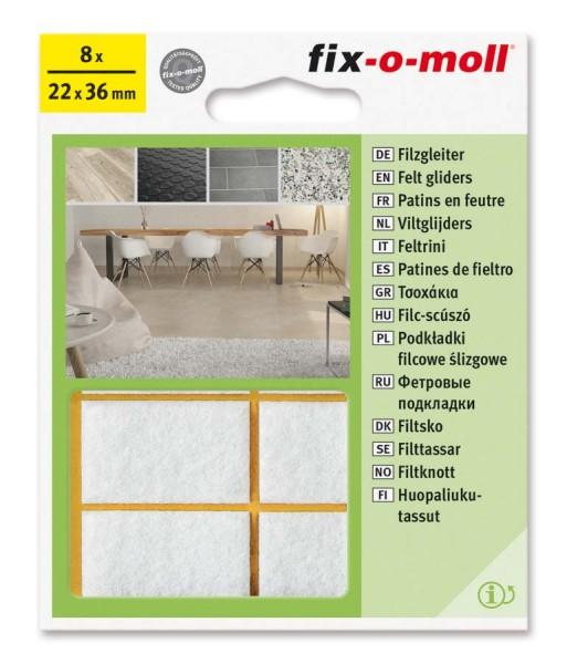 Filzgleiter selbstklebend fix-o-moll 22 x 36 mm weiß