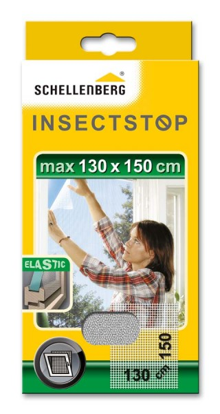 Fliegengitter Schellenberg für Fenster ELASTIC 130 x 150cm weiß