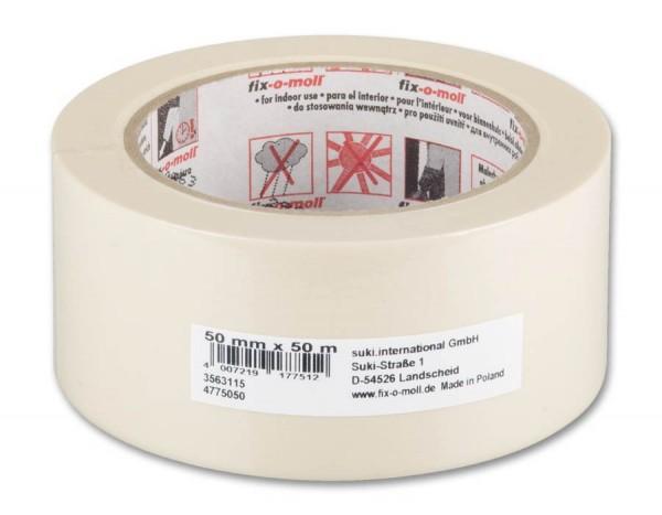 Kreppband Flachkrepp ECO fix-o-moll 50m x 50mm
