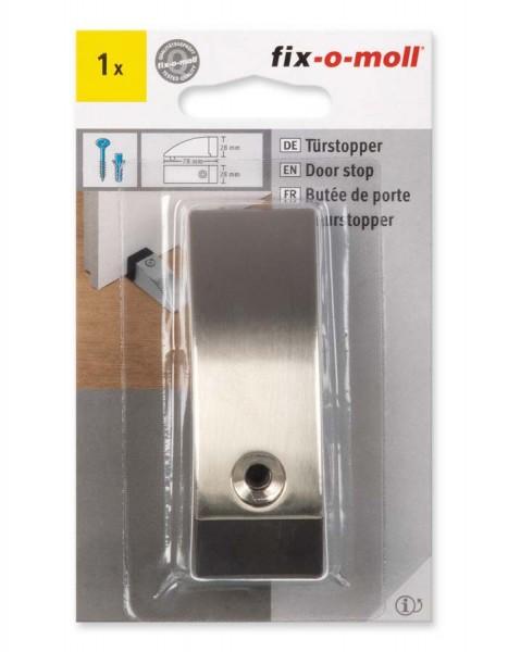 Türstopper Metall gebürstet 78 x 28 mm fix-o-moll