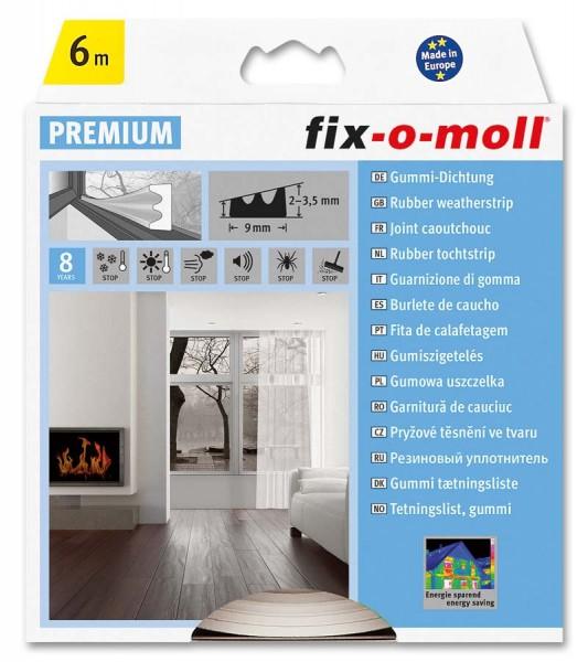 E-Profildichtung Gummidichtung fix-o-moll 6 m weiß