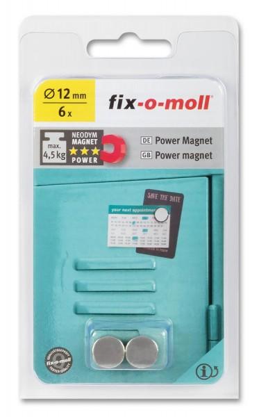 fix-o-moll Neodym Magnete Scheiben 12mm silber